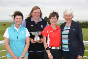 Captain's Linda Scott Fiona Allison, Fiona Ker and Elizabeth Wilson (Stranraer GC)