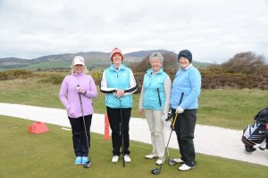 T1 Team Runners Up - Sue, Katie, Joyce and Janett Katie was also Leader Longest Drive @ 18th (Very long!)
