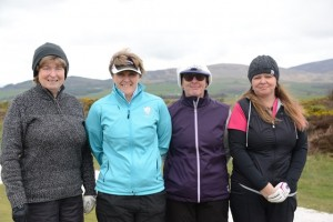 "T5 The winning team!  Cilla, Gwen, Maggie and Sally Gwen also won the ""Team Leader"" strokeplay prize"