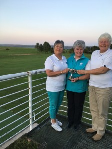 Gray Cup winners Gill Deay & Christine Brown with retiring President Jean Brydson