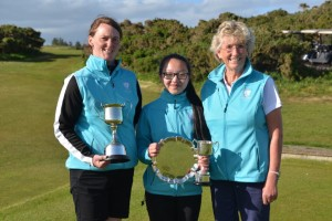 Our 2019 Champions Katie & Teresa with Captain Fiona