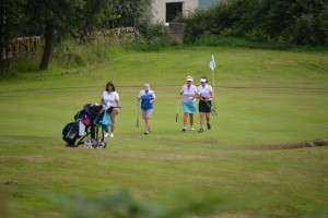 Jackie, Izzy, Beryl & Ailsa - coming off 18th